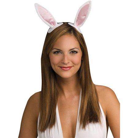 Clip-On Bunny Ears Adult Halloween Accessory