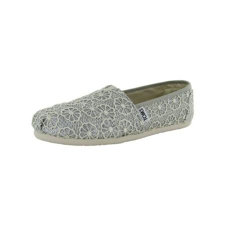 Toms Toms Womens Crochet Glitter Slip On Alpargata Flat Shoe