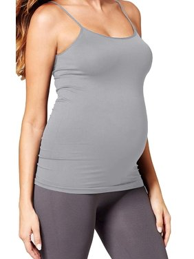 Haughty Motherhood Pregnancy Nursing Tank Top Maternity Camisole Shirt Stretch Cami (One Size Fits All - Maternity, Baby Blue)