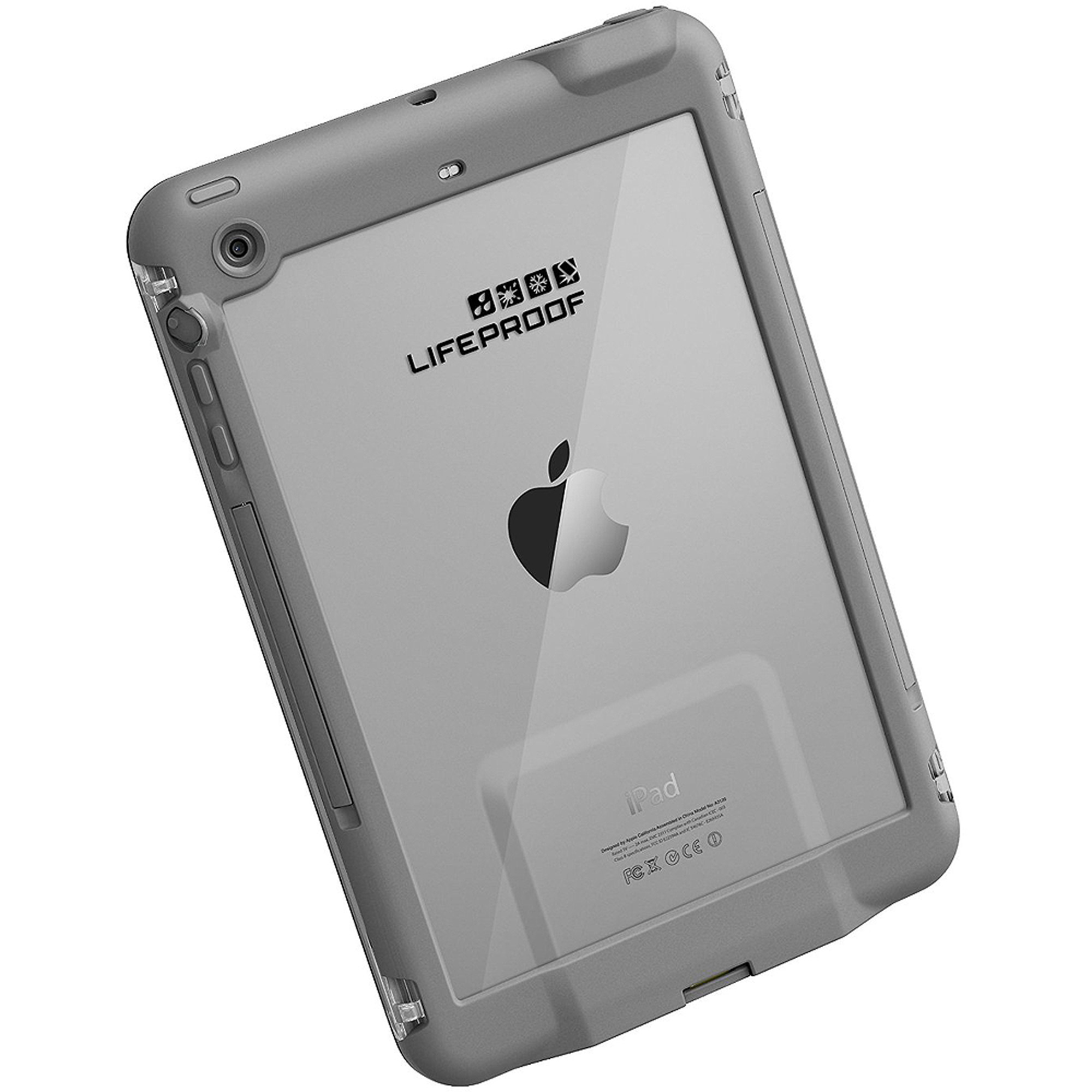 LifeProof fre Case for Apple iPad mini 1/2/3, White/Gray
