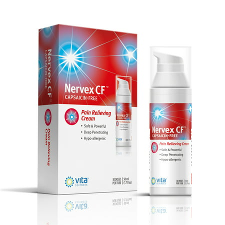 Neuropathy Rapid Pain Relief Cream with Arnica, R-ALA, B1, B5, B6, MSM. Soothing Aloe and Coconut Oil Base Capsaicin-FREE. Reduce Burning, Tingling, Numbness. Money Back Guarantee. NERVEX CF Made