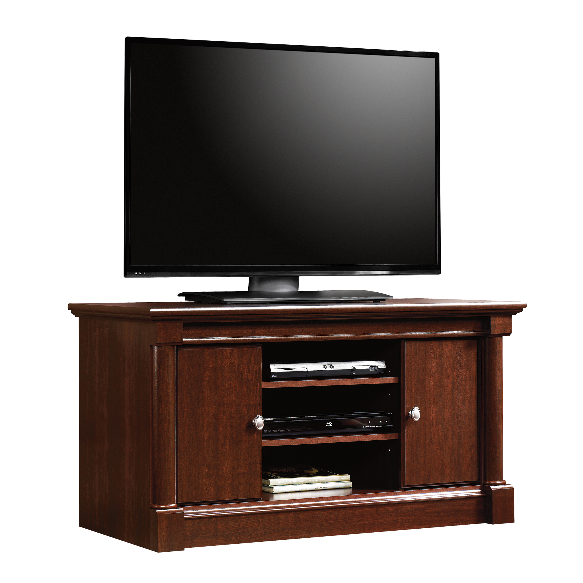 """Sauder Palladia Panel TV Stand for TV's up to 50"""", Select Cherry Finish"""