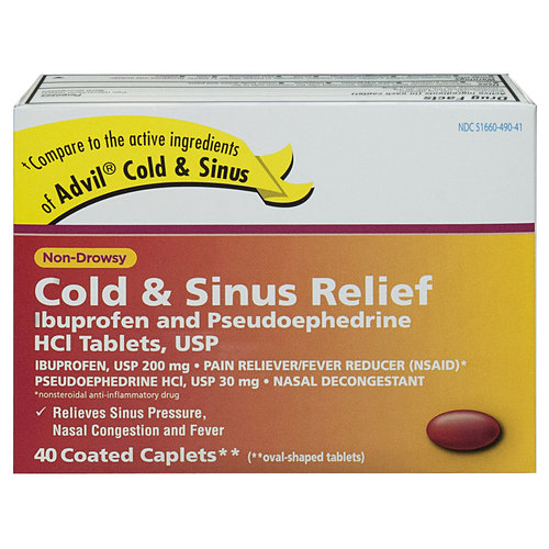 Ohm Brand Non-Drowsy Cold & Sinus Relief, 40 count ...