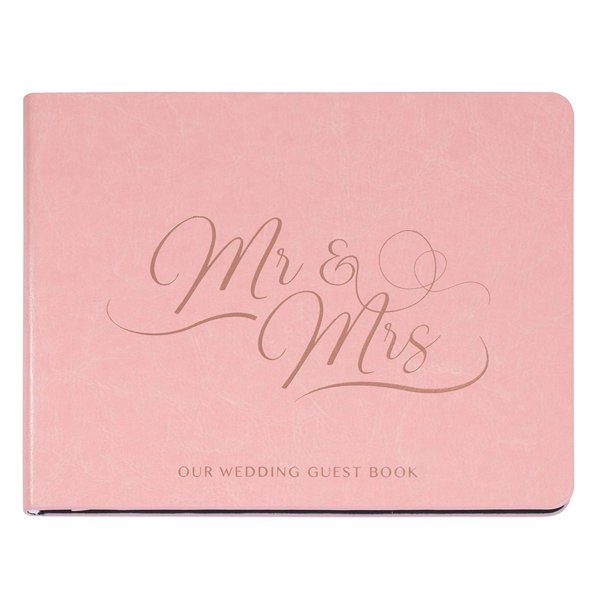 Mr And Mrs Wedding Guest Sign In Registry Reception Book Pink Cover With Gold Foil 64 Sheets 6 X 8 Inches Walmart Com Walmart Com
