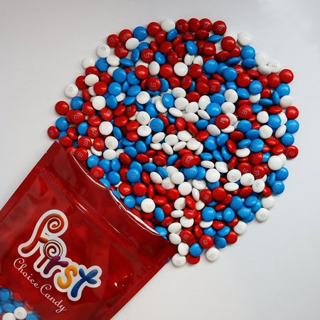 m&m American Spirit Patriotic Milk Chocolate Candy 1 Pound Resealable Pouch Bag ()