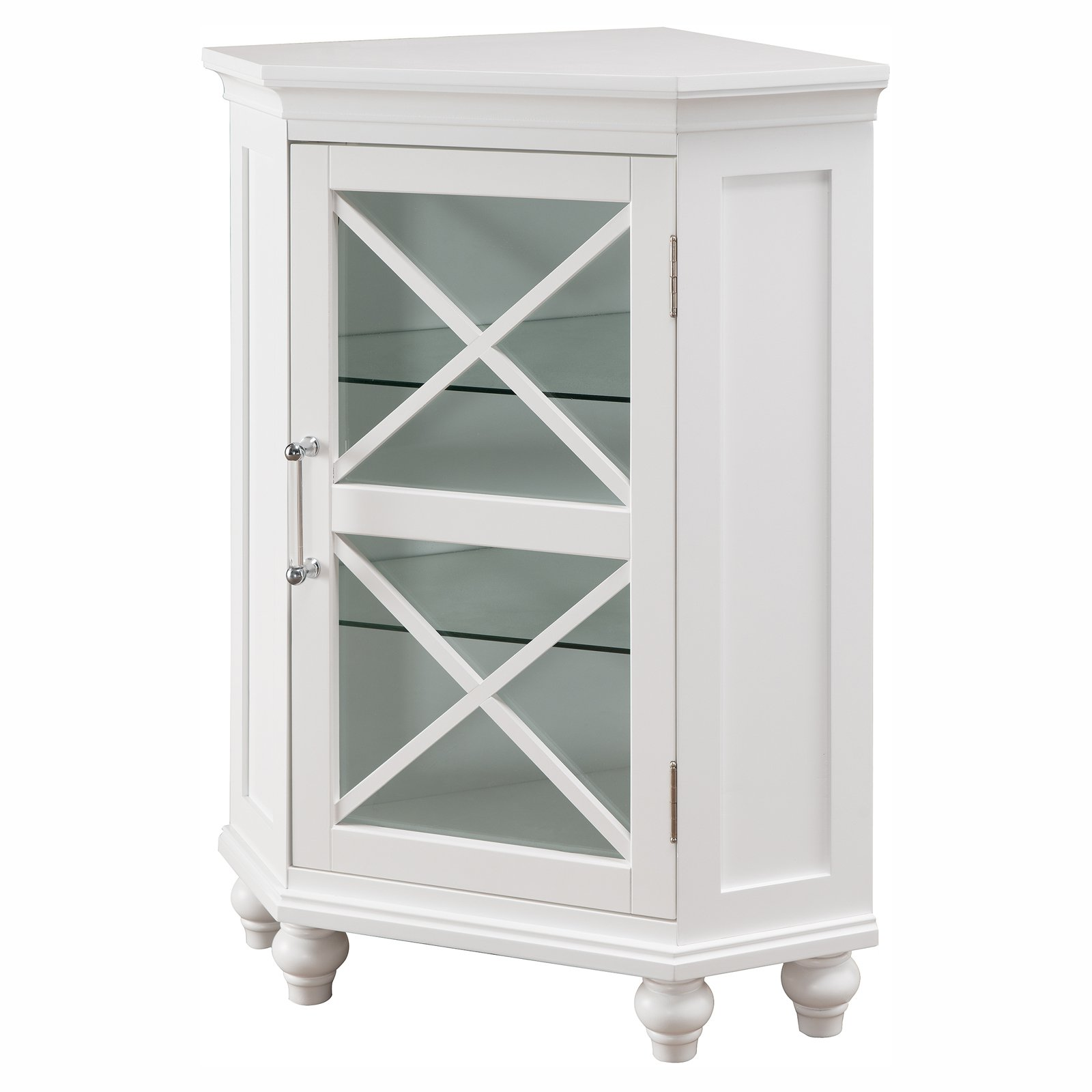 Elegant Home Fashions Ethan Corner Bathroom Floor Cabinet
