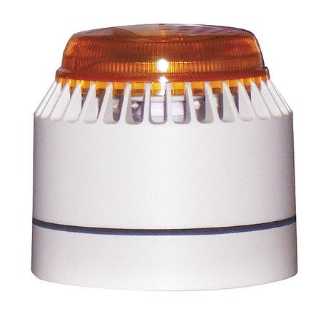 FEDERAL SIGNAL LP7-18-30A Horn Strobe,White/Amber,ABS,18 to 30VDC