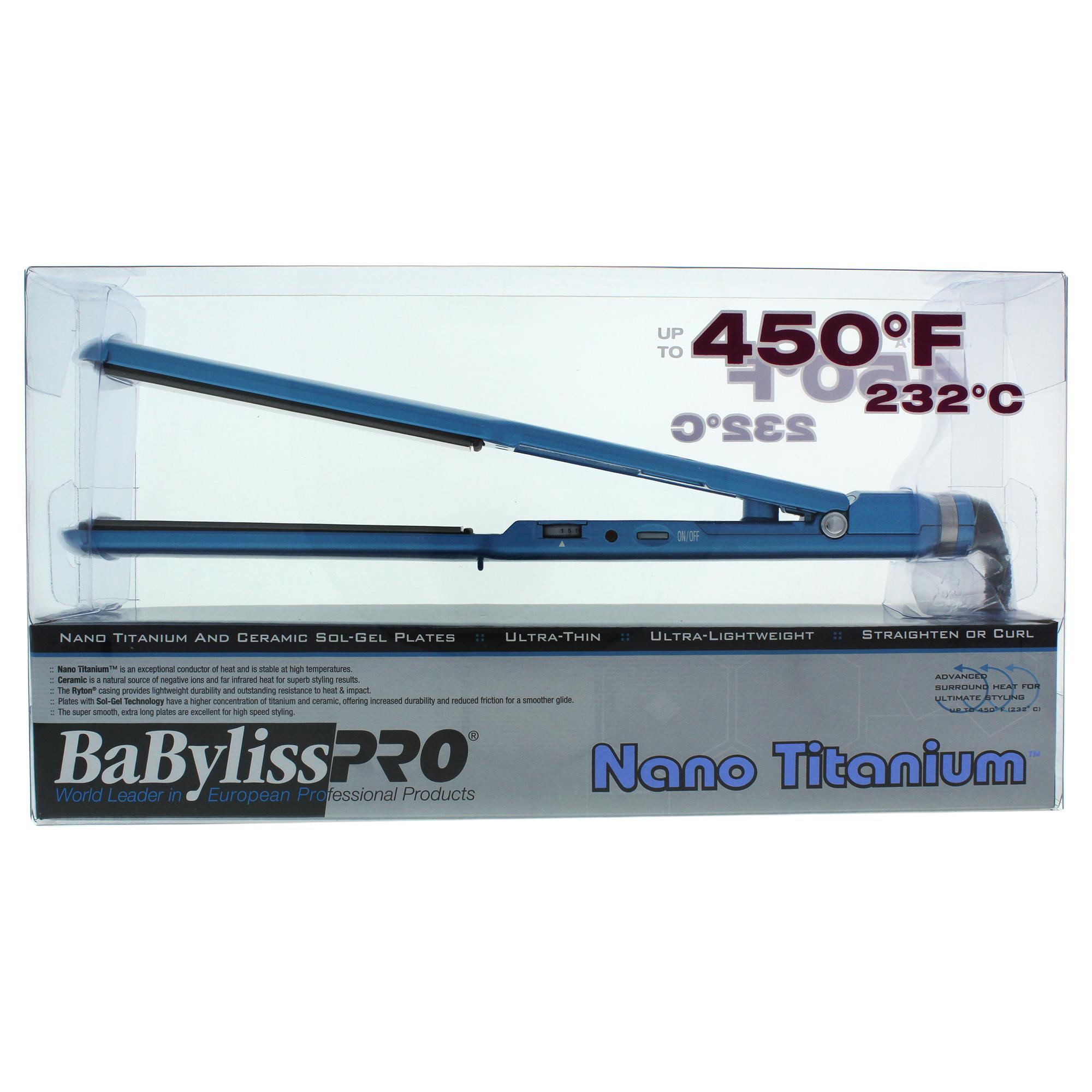 BaBylissPRO Babyliss PRO Nano Titanium and Ceramic Professional Flat Iron - Model # BNT3073C - 1.5 Inch Flat Iron