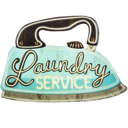 Laundry Service Iron Metal Sign Tin Home Decoration Wall Decor