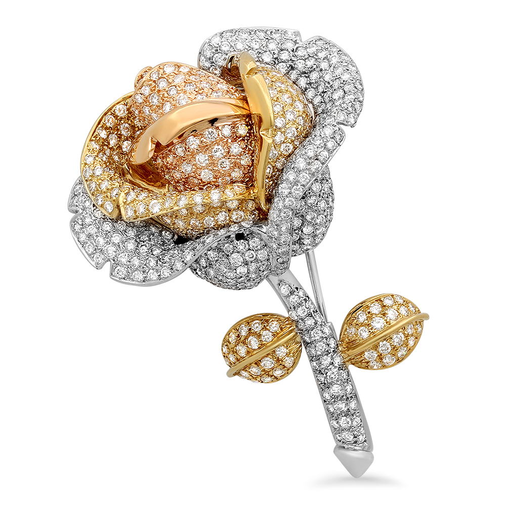 GOLD 8.38CTW DIAMOND PIN by
