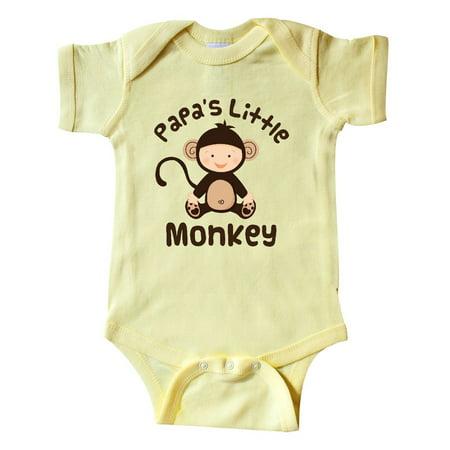 Papas Little Monkey Boys Funny Infant Creeper - Monkey Onesie