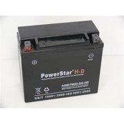 PowerStar PM20-BS-HD-30 Harley-Davidson Ytx20-Bs Motorcycle Battery For Harley-Davidson Fx-Fxr Series 1340Cc 1979-1994
