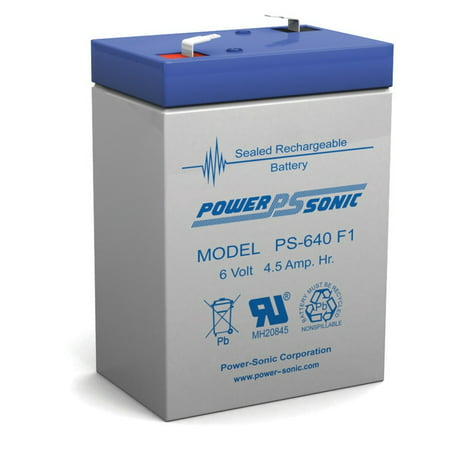 PS-640F 6 Volt 4.5 Amp Hour Sealed Lead Acid (Best 6 Volt Golf Cart Batteries)