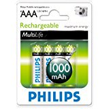 Philips MultiLife NiMH Rechargeable AAA Batteries 1000mAh Philips MultiLife NiMH Rechargeable AAA Batteries 1000mAh