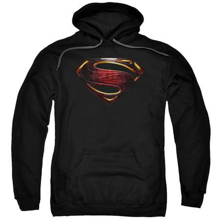 Logo Mens Hoodie Sweatshirt - Justice League Movie Superman Logo Mens Pullover Hoodie