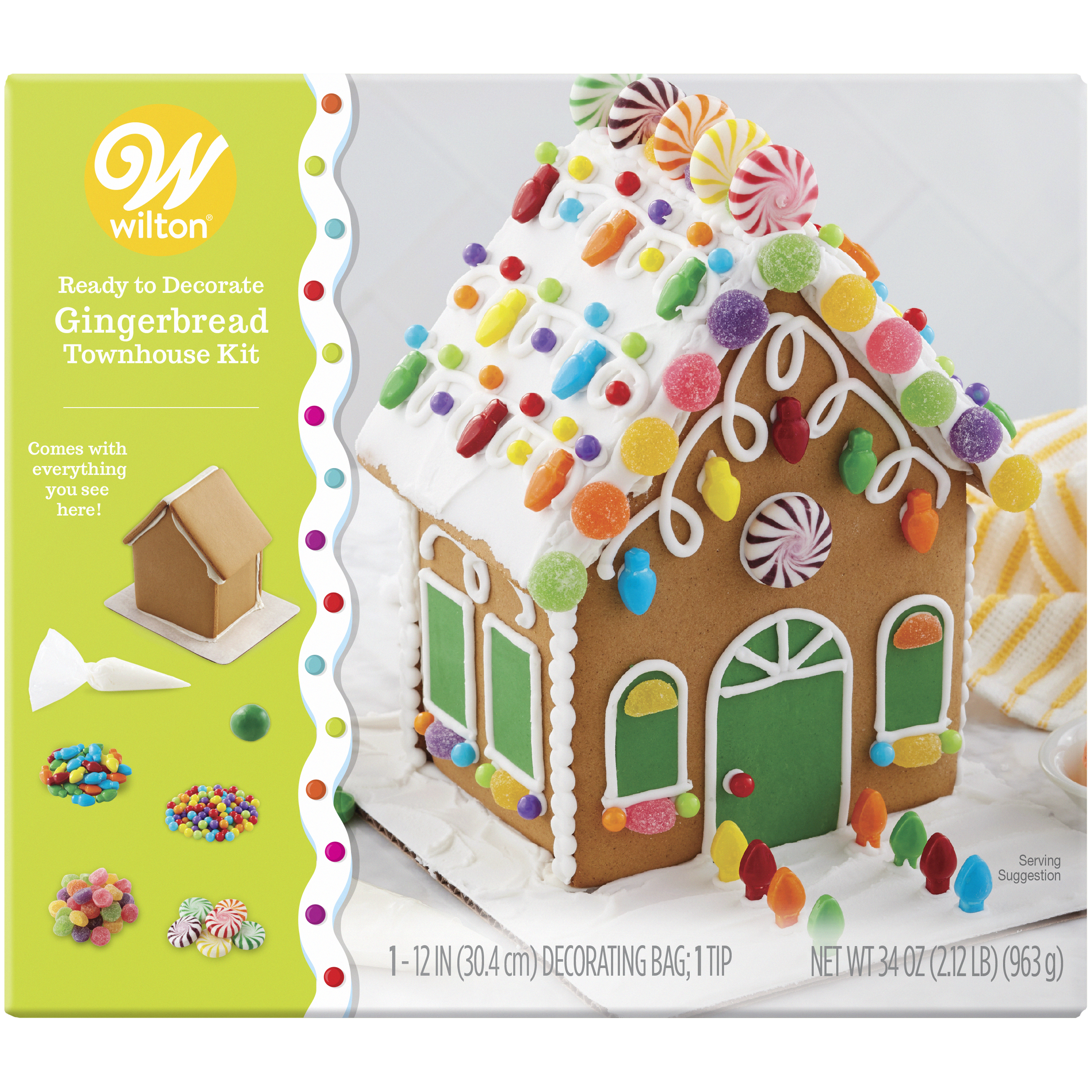 Wilton Ready-to-Decorate Gingerbread Townhouse Decorating Kit