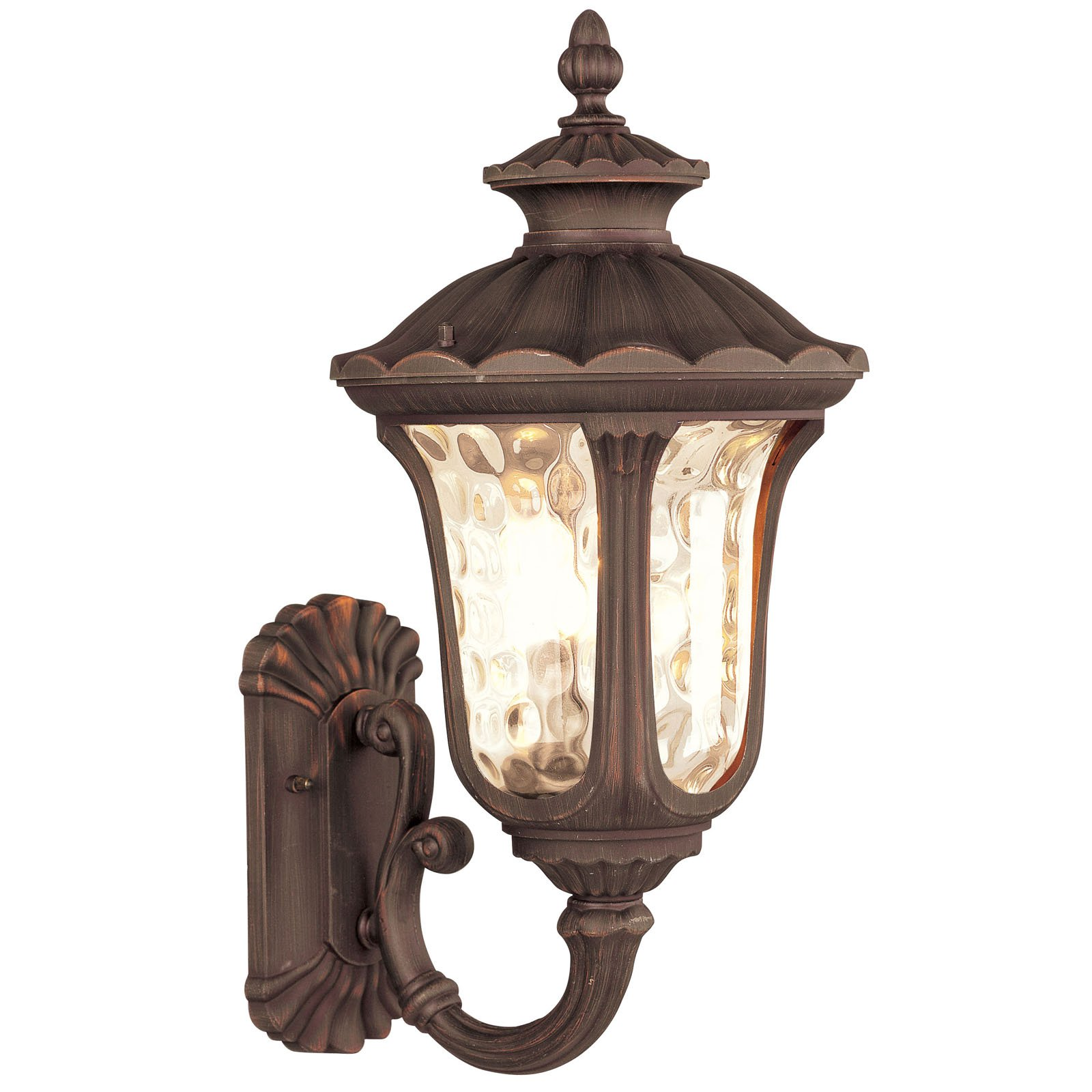 Livex Oxford 765 Outdoor Uplight Wall Lantern - Imperial Bronze