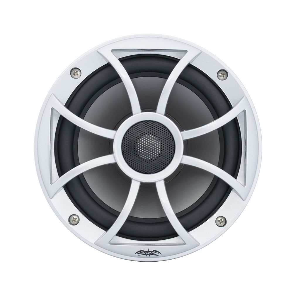 Wet Sounds Recon 6S 6.5 Inch 2 Way Open Grille Marine Speakers Silver/Gray, Pair