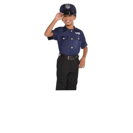 Boy Cop Costume (Police Officer Shirt Boys Child Cop Halloween Costume)