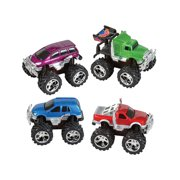 4 Count Friction Rev Em Up Toy Monster Trucks Costume Accessory