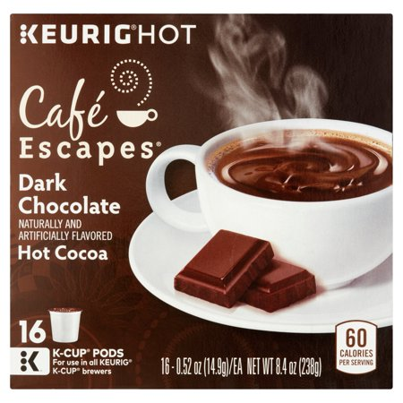Keurig Hot Café Escapes Hot Cocoa Dark Chocolate K-Cup Pods, 0.52 ...