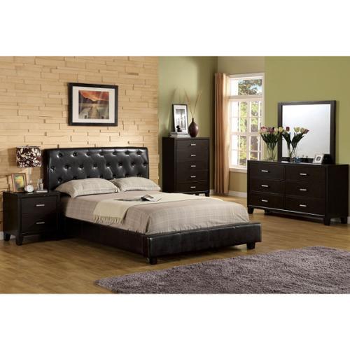 Furniture of America Pendezi Modern 4-piece Espresso Bedroom Set Cal. King