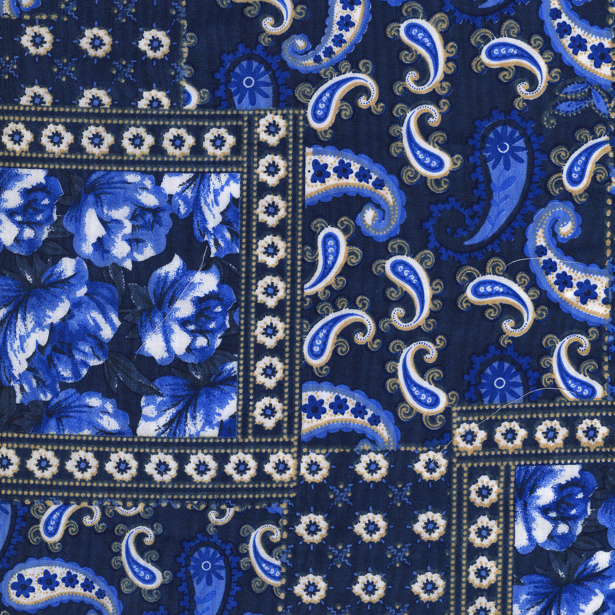 Shason Textile Soft Poly Cotton Bandana Print Fabric For Fashion Projects, 3 yds, Multiple Colors