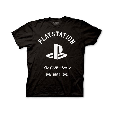 Ripple Junction Men's Playstation Kanji Graphic T-Shirt, Black, M