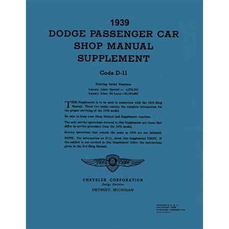 Truck Unit Repair Shop Manual (Bishko OEM Repair Maintenance Shop Manual Bound for Dodge Truck All Models - Supp To 1938 1939 )