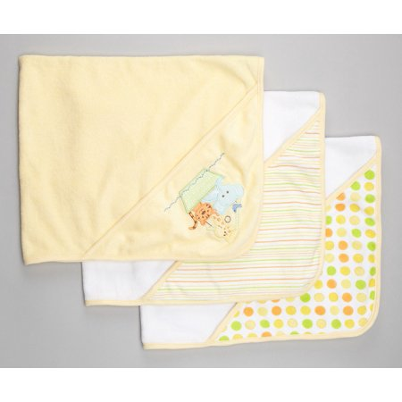Spasilk 3 Hooded Towel Set, Yellow Ark