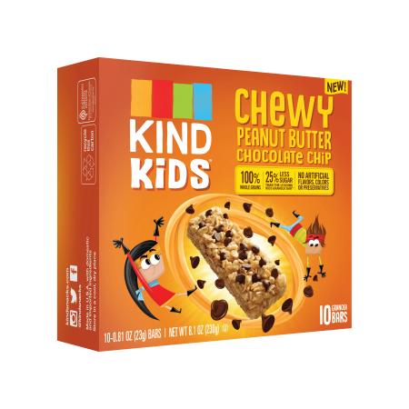 Gluten Free Chocolate ((2 Pack) KIND Kids, Peanut Butter Chocolate Chip Granola Bar, 10ct, .81 oz Bars, Gluten Free, Non GMO, 100% Whole Grains)