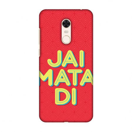 Xiaomi Redmi Note 5 Case - Jai Mata Di, Hard Plastic Back Cover, Slim Profile Cute Printed Designer Snap on Case with Screen Cleaning