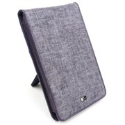 "JAVOedge Purple / Gray Charcoal Fabric Flip Style Case with Built in Stand for Amazon Kindle Fire 7"" - First Generation"