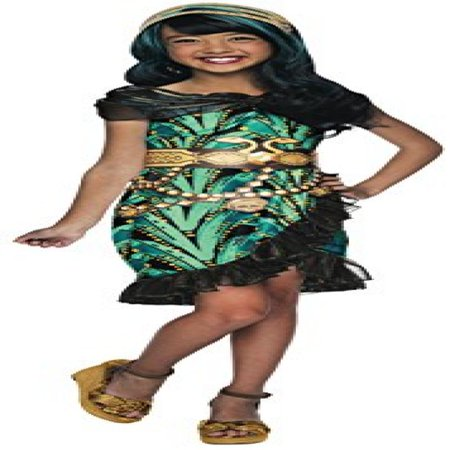 Rubies Monster High Fright Camera Action Cleo de Nile Costume, Child Medium - Cleo De Nile Adult Costume