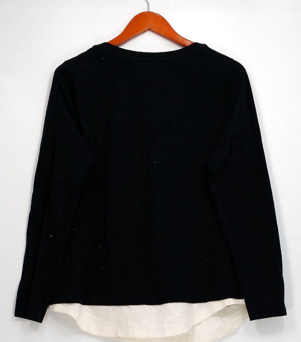 Isaac Mizrahi SOHO Long Slv Mock Neck Tunic Black XL NEW A299490