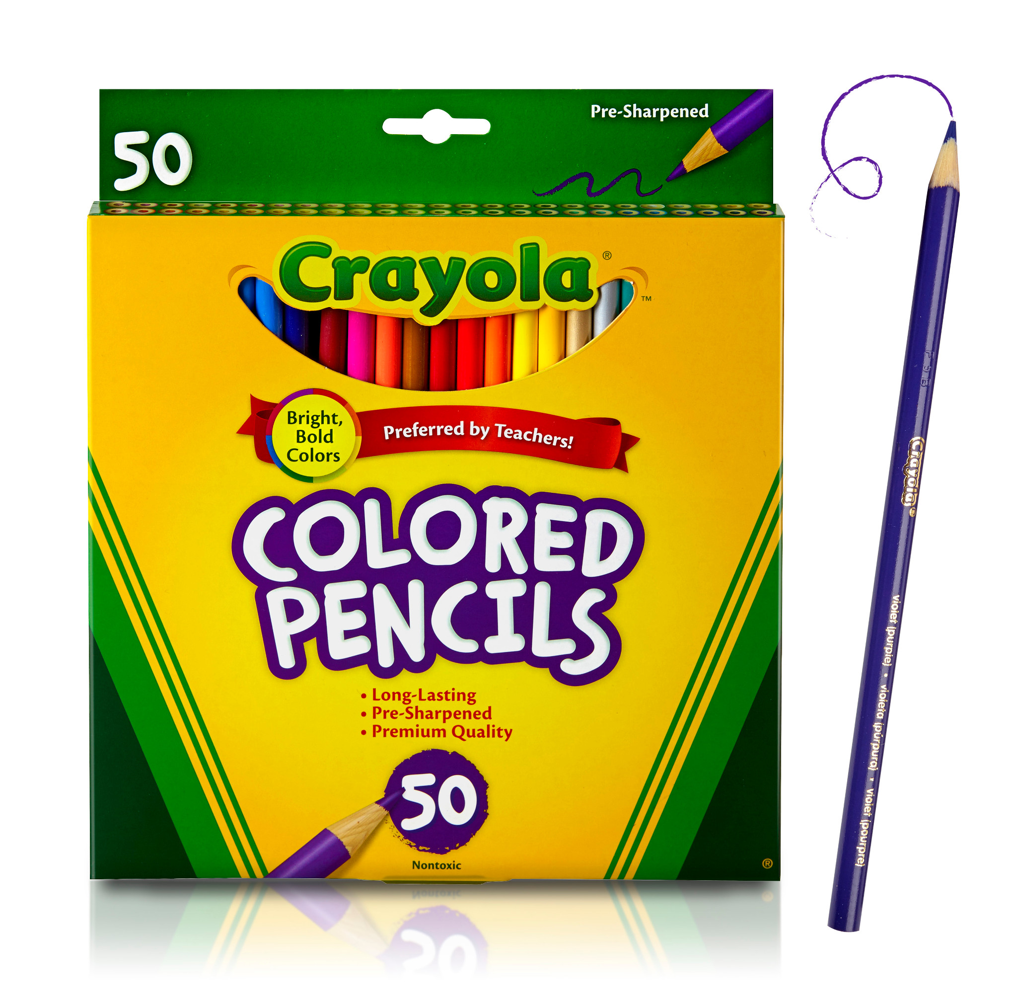 Crayola Colored Pencils, Coloring Supplies, 50 Count