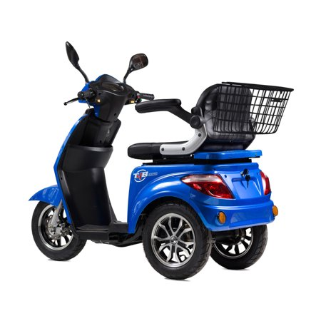 T4B LU-500W Mobility Electric Recreational Outdoors Scooter 48V20AH with Three Speeds, 14/22/32kmph - Blue - image 11 de 14