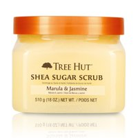 Tree Hut Shea Sugar Scrub Marula & Jasmine, 18oz, Ultra Hydrating and Exfoliating Scrub for Nourishing Essential Body Care