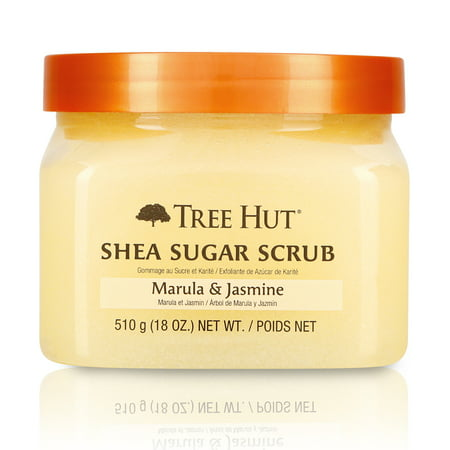 Tree Hut Shea Sugar Scrub Marula & Jasmine, 18oz, Ultra Hydrating and Exfoliating Scrub for Nourishing Essential Body Care ()