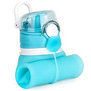 Collapsible Water Bottle, Silicone Foldable with Leak Proof Valve BPA Free, 21 oz