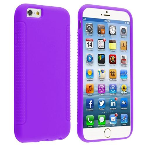 Insten Purple Colorful Rubber Case Cover For iPhone 6S 6 4.7 inch 4.7""