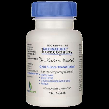 MediNatura Cold & Sore Throat Relief 100 (Silver Cold Tab)