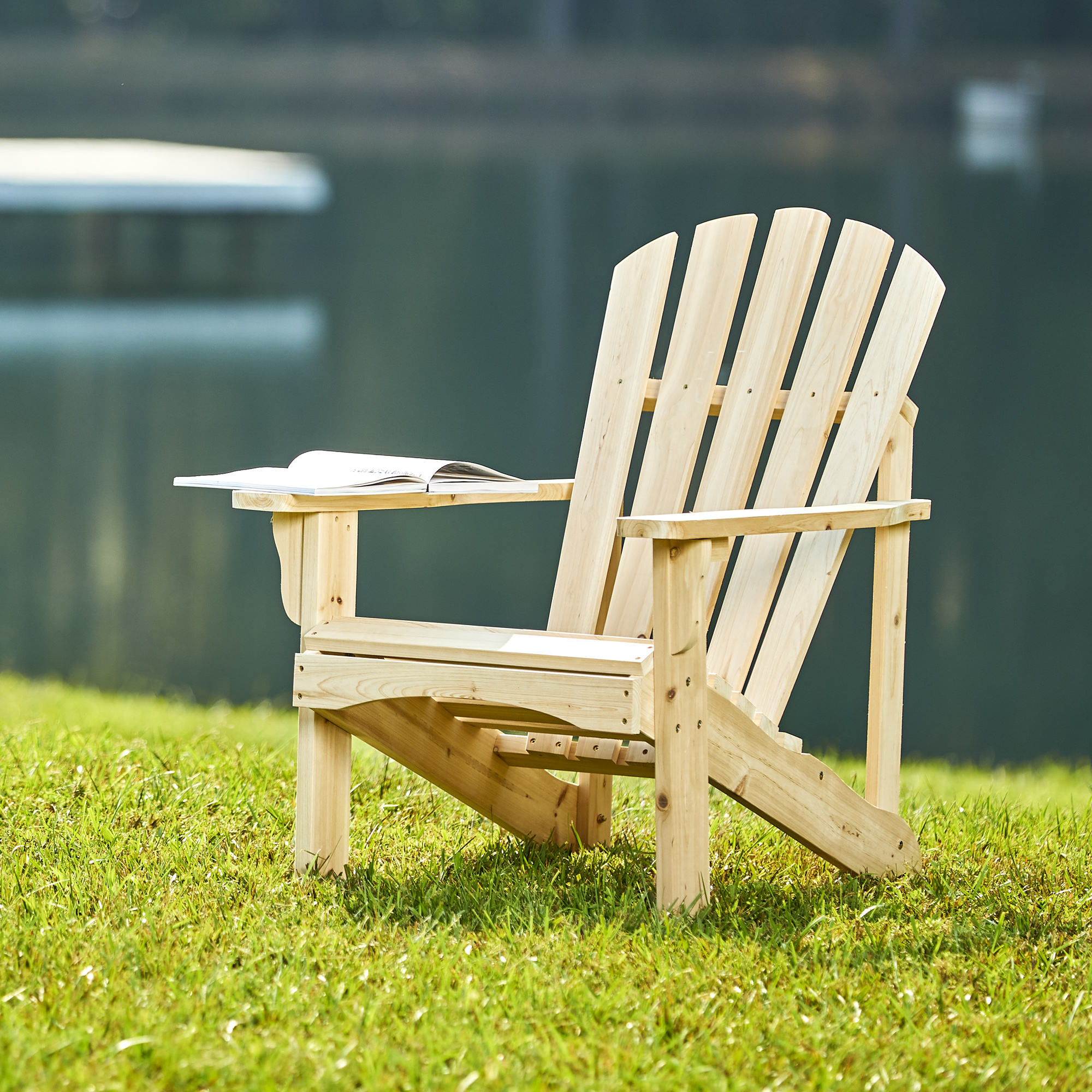 Shine Company Rockport Adirondack Chair - Natural