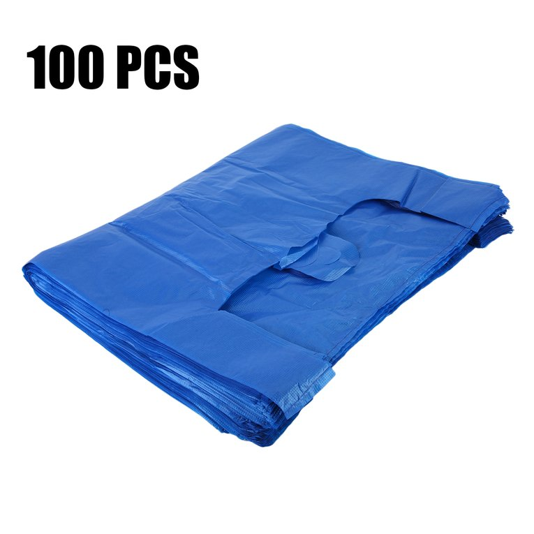 45x70cm Plastic T-Shirt Bags With Handles Durable 100 PCS Shopping Bags