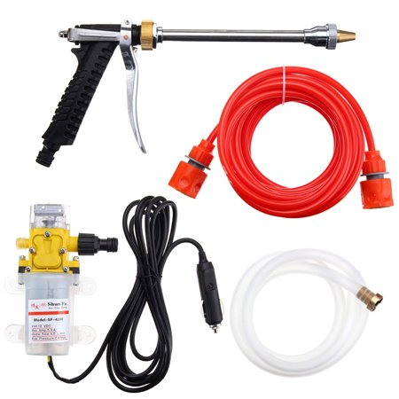 4-in-1 DC12V 100W 160PSI High Pressure Car Washer Cleaner Water Wash Pump Sprayer Kit,Car Washer Gun (Gun Oil Sprayer)