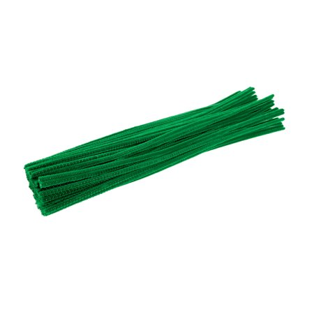Colorations Pipe Cleaners, Green - Pack of 100 (Item # - Chenille Pipe Cleaners