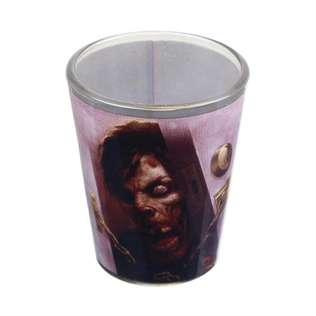 Zombie At Door 2oz Shot Glass (Zombie Glass)