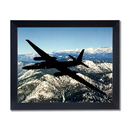 USAF U2 Spy Plane Jet Airplane Wall Picture Black Framed Art