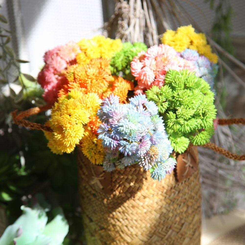 Girl12Queen 1Pc Rustic Plastic Fake Mini Rice Seed Fruit Artificial Simulation Flower Decor