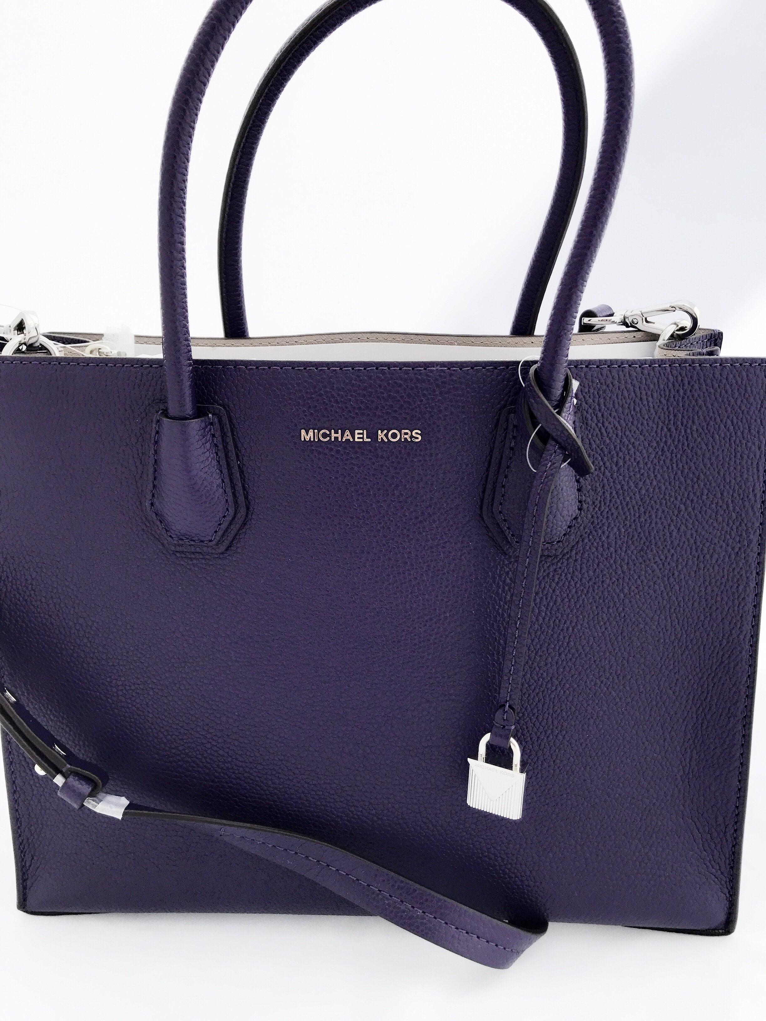 84014cbe9a46 ... greece nwt michael kors mercer studio large convertible tote iris  purple satchel bag walmart 0f550 7596a